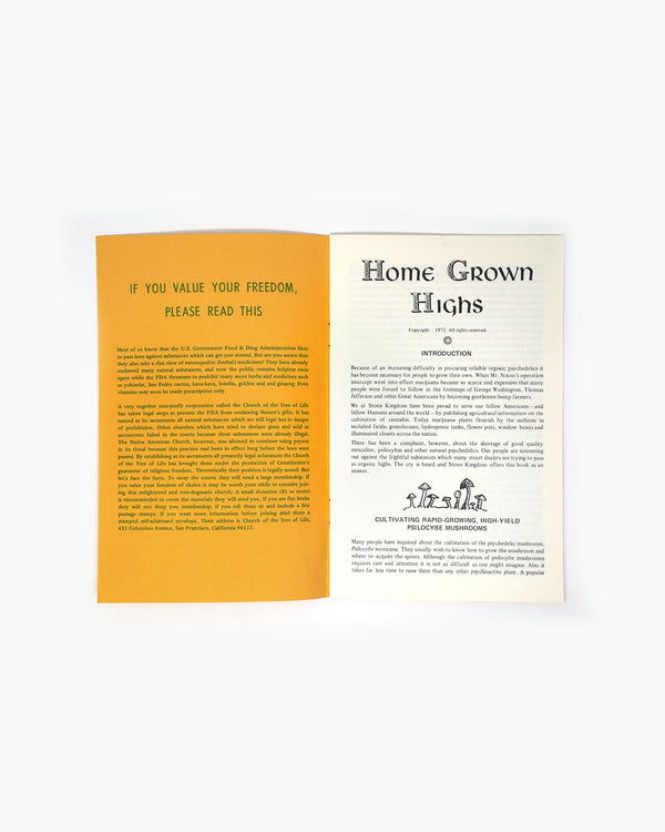 Vintage Home Grown Highs Book