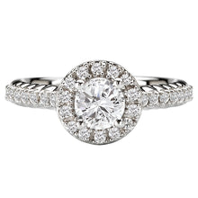 Load image into Gallery viewer, 14KW Romance Halo Diamond Engagement Ring