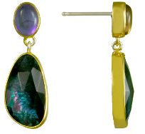 Sterling Silver and 22K Gold Vermeil Earrings
