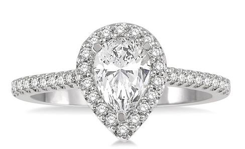 3/8 CTW Pear Shape Diamond Engagement Ring