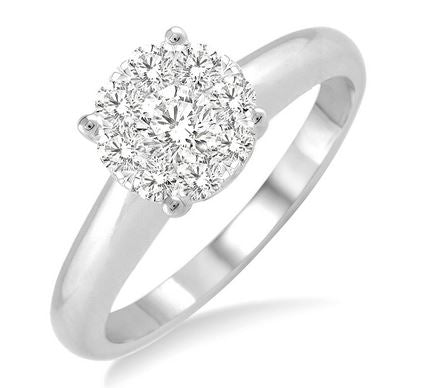 Lovebright Essential Diamond Ring in 14KWG