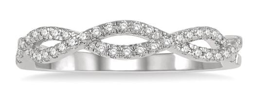 1/5 ctw Entwined Round Cut Diamond Fashion Ring in 14K White Gold