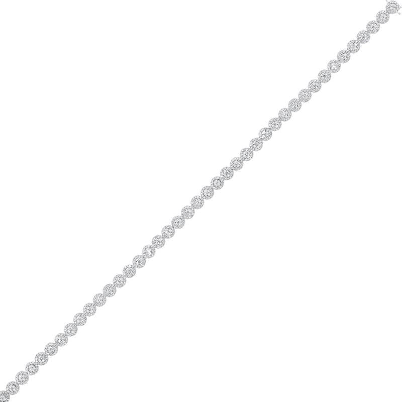 14kw tru ref prong diamond bracelet 4ct, pd10306-ssf