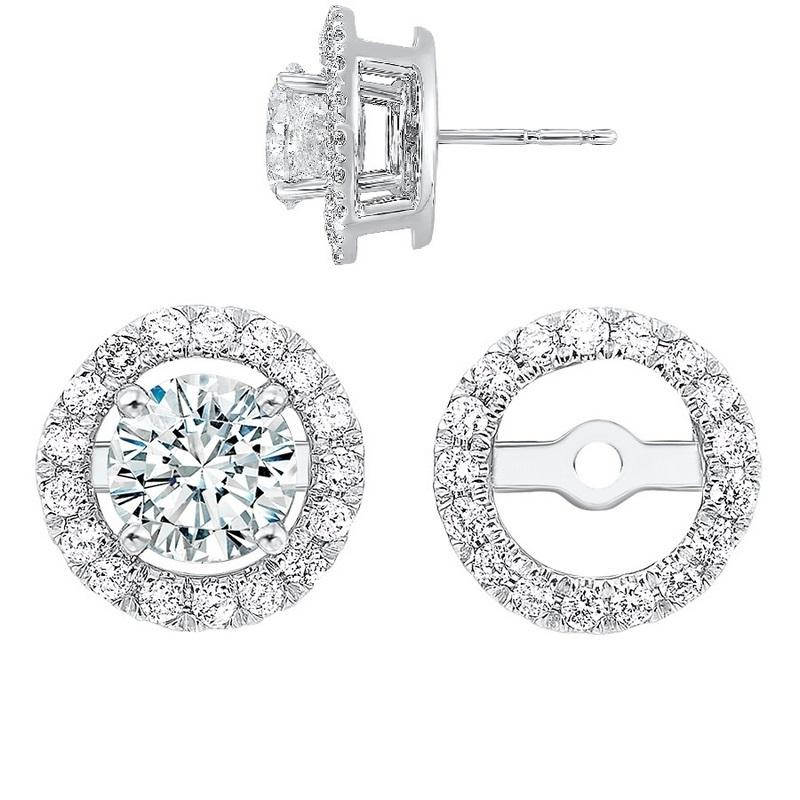 14kw halo micro prong diamond jacket earrings 1/5ct, rg73462-1wnm