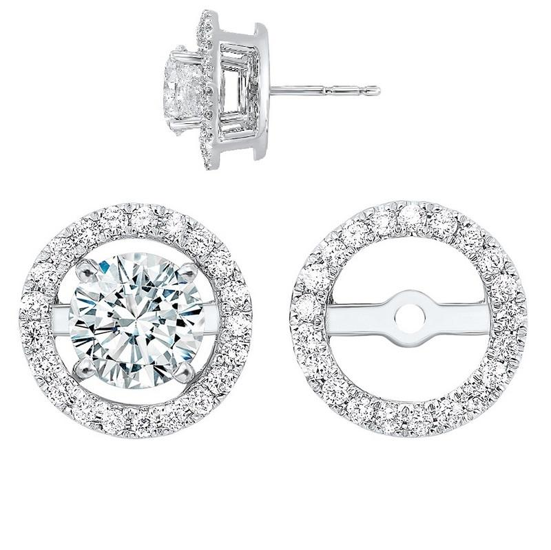 14kw halo micro prong diamond jacket earrings 1/4ct, rg73462-1wnr