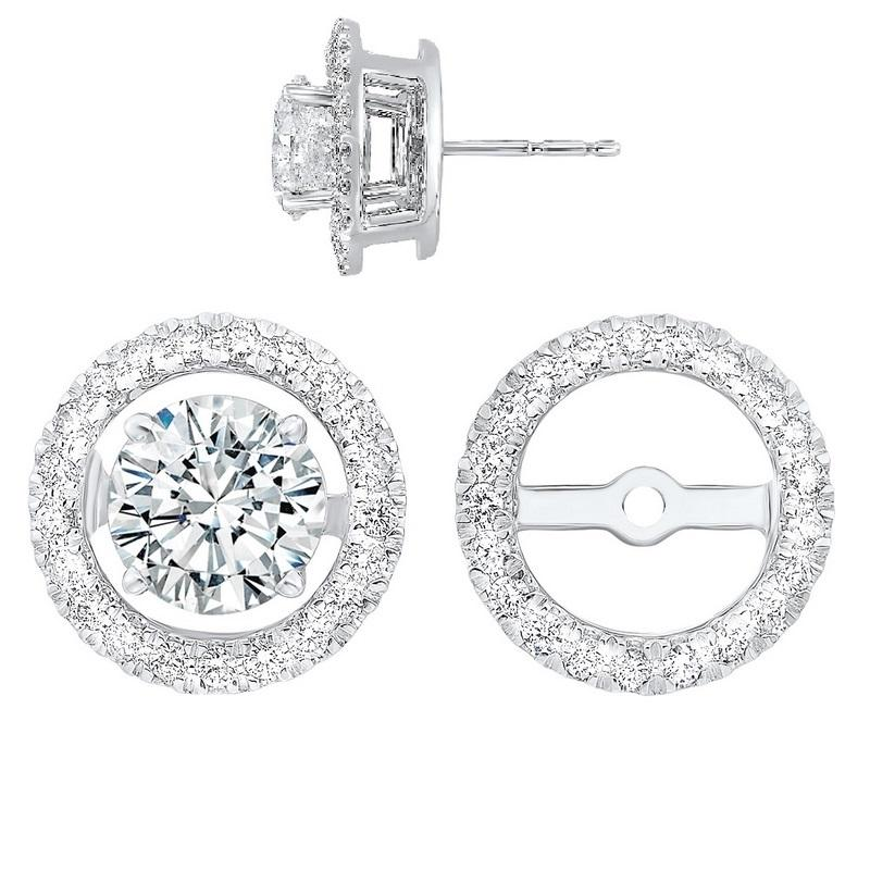 14kw halo micro prong diamond jacket earrings 1/3ct, rg73462-1wns