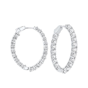 14kw prong diamond hoop earrings 7 ct, fe2046-1wd