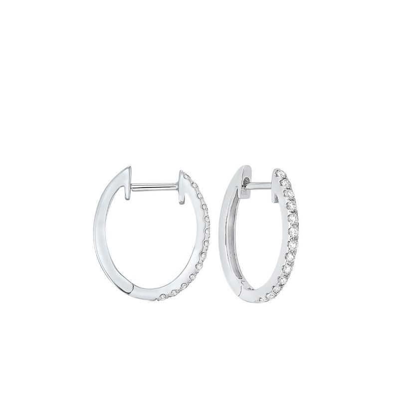 14kw prong diamond hoop earrings 1/4ct, ps8.5aa-4w