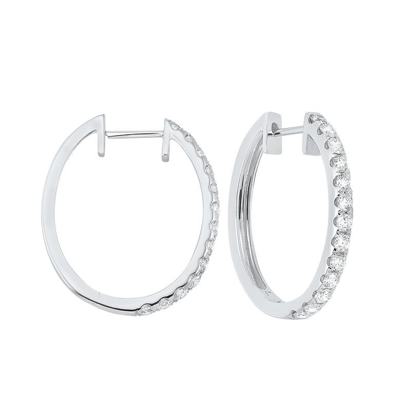 14kw prong diamond hoop earrings 1ct, ps6.00aaa-4w