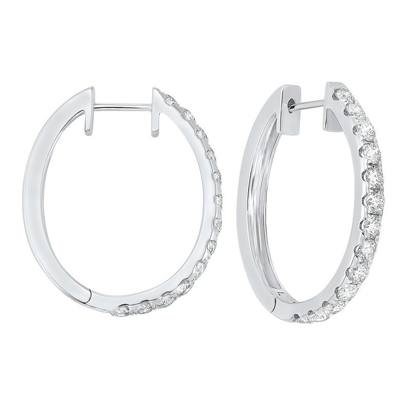 14kw prong diamond hoop earrings 2ct, ps7.00aaa-4w