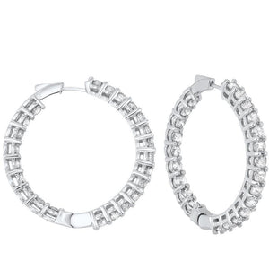 14kw prong diamond hoop earrings 10ct, fe2065-1yd