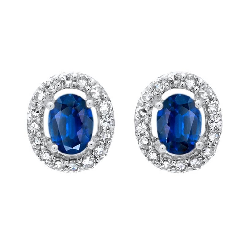 10kw color ens prong sapphire earrings 1/100ct, fr1233-4wd