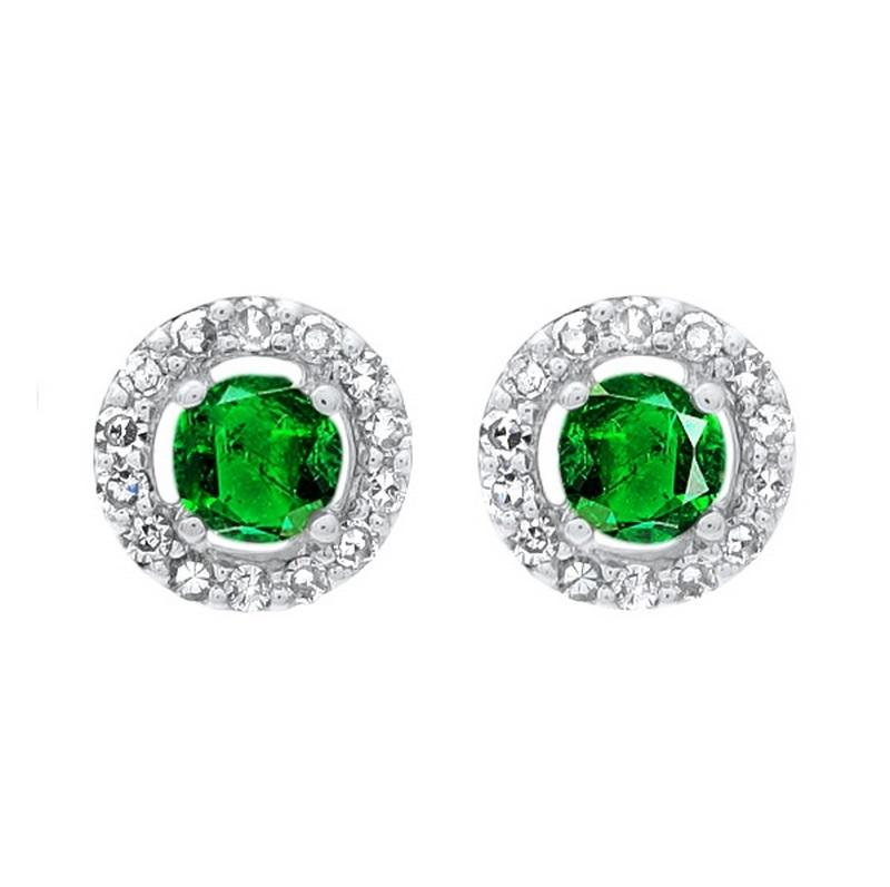 10kw color ens prong emerald earrings 2/250ct, fr1029-1wd