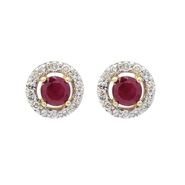 10kw color ens prong ruby earrings 2/250ct, fr1029-1yd