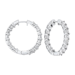14kw tru ref prong diamond hoops 1/2ct, pp7.00aa-4w
