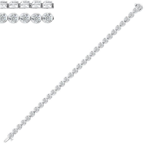 14kw prong diamond bracelet 10ct, rg10644-4pb