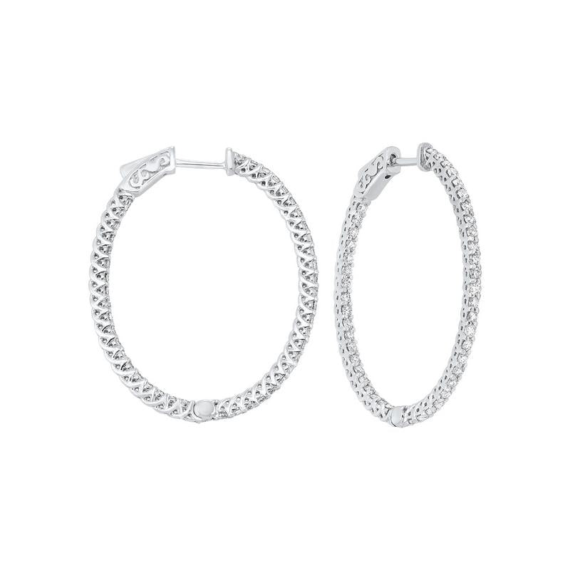 14kw prong diamond hoop earrings 2ct, er28272-4pd