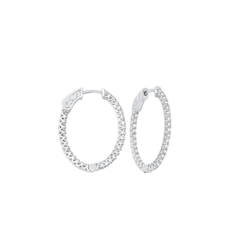 14kw prong diamond hoop earrings 1ct, fe2044-1yd