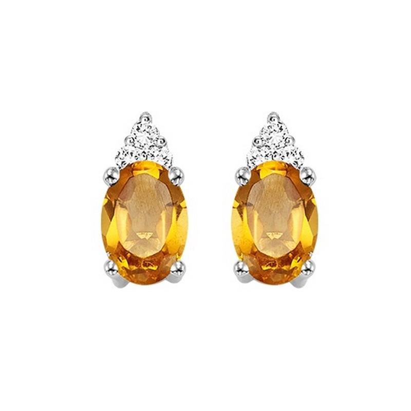 10kw color ens prong citrine earrings 1/25ct, er24587-4wc