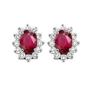 14kw color ens halo prong ruby earrings 3/8ct, rg73311-1pd
