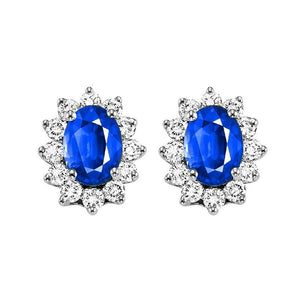 14kw color ens halo prong sapphire earrings 3/8ct, rg68792-4wc