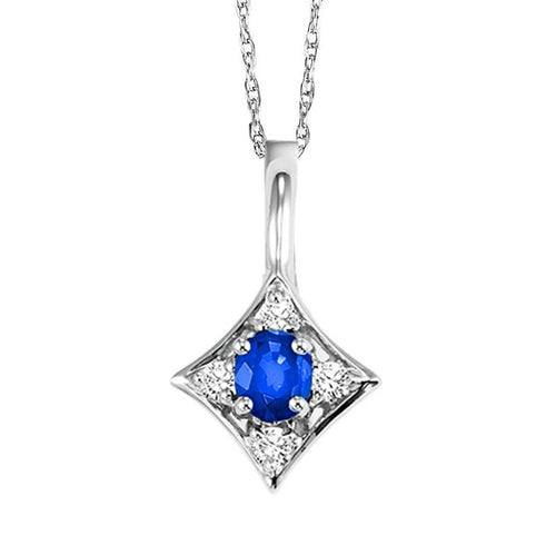 14kw color ens prong sapphire necklace 1/20ct, rg73312-1wd