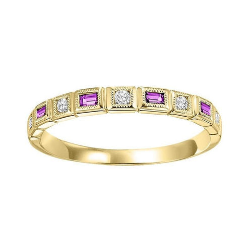 14ky mix bezel ruby band 1/10ct, pc6200p3-4w
