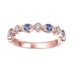 14kr mix prong sapphire band 1/20ct, rg71435-4wc