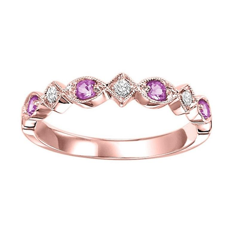 14kw mix prong pink sapphire band 1/20ct, rg71284-4wc