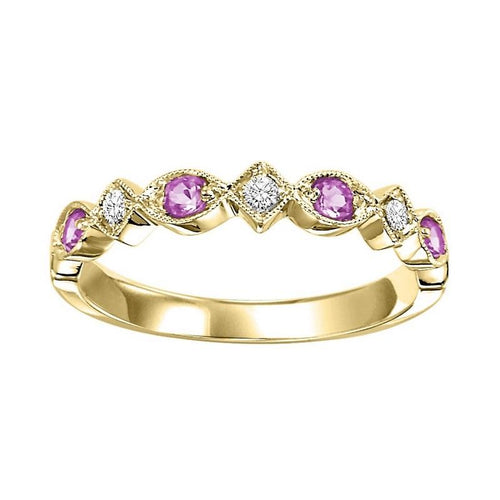 14kw mix prong pink sapphire band 1/20ct, rg71280-4wc