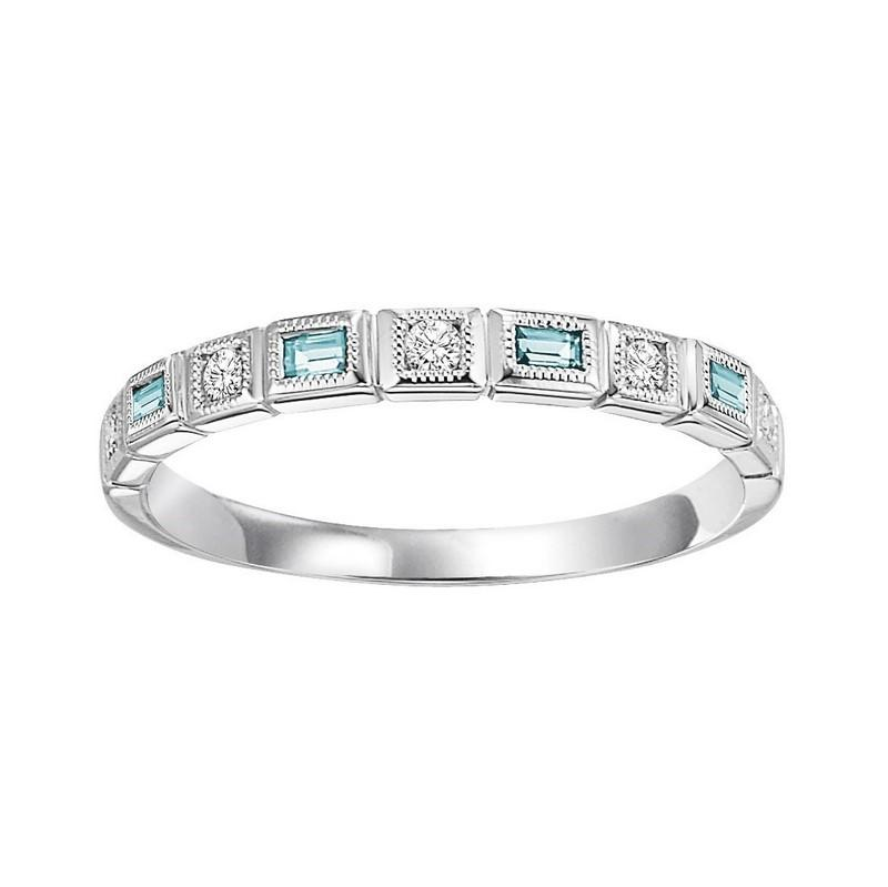 14kw mix bezel blue topaz band 1/10ct, pc8050p1-4w