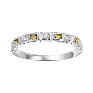 14kw mix bezel citrine band 1/10ct, rg10789-4wd