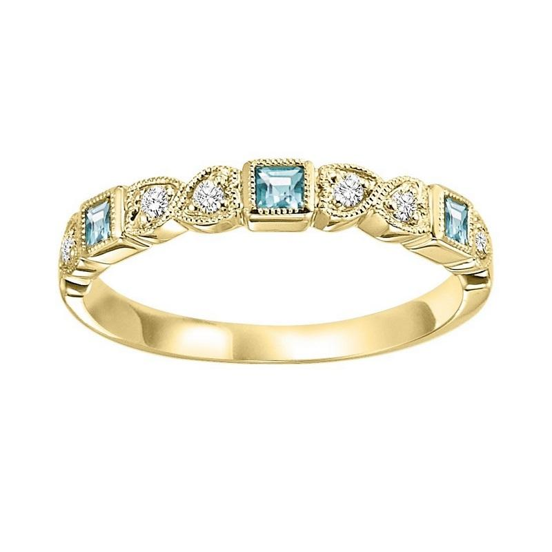 14ky mix bezel blue topaz band 1/12ct, se7014g4-4w