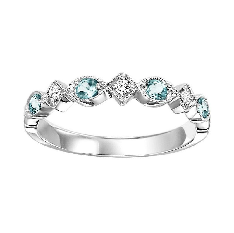 14kw mix prong blue topaz band 1/25ct, rg71630-4wb