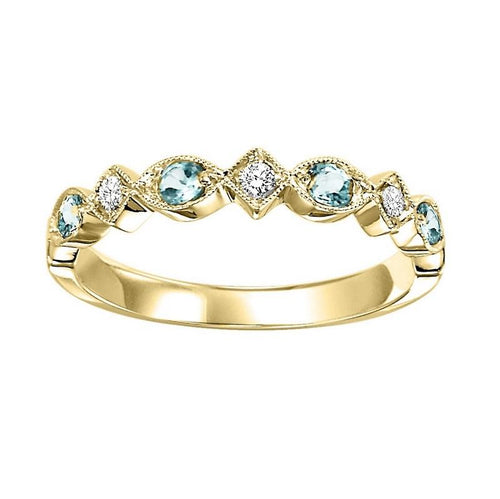 14ky mix prong blue topaz band 1/25ct, rg71629-4wb