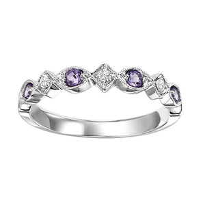 14kw mix prong amethyst band 1/20ct, rg71632-4wb