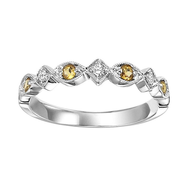14kw mix prong citrine band 1/20ct, kb15-4wd