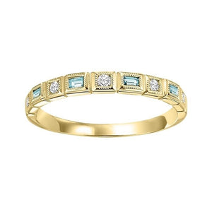 14ky mix bezel aquamarine band, rg10793-4wd