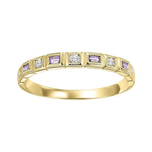 14ky mix bezel alexandrite band 1/10ct, rg71279-4wc