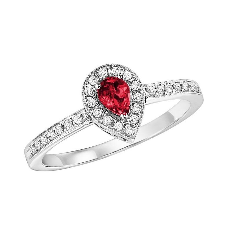 14kw color ens halo prong ruby ring 1/6ct, rg71824-4wc