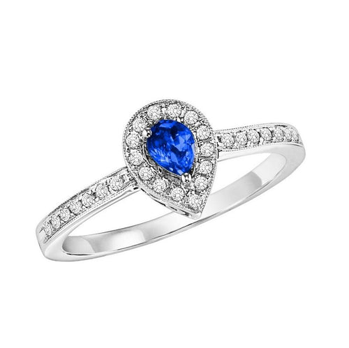 14kw color ens halo prong sapphire ring 1/6ct, rg71825-4wc