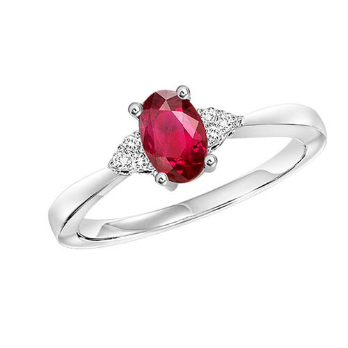 10kw color ens prong ruby ring 1/25ct, fe1241-4wc