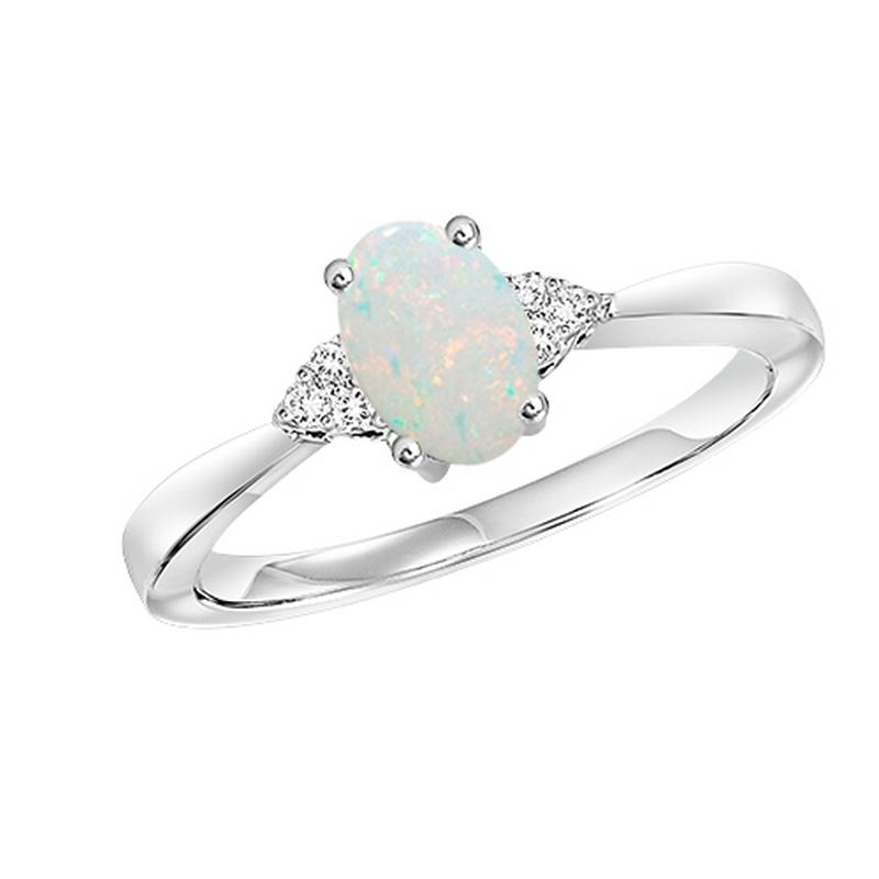 10kw color ens prong opal ring 1/25ct, er24321-4wc