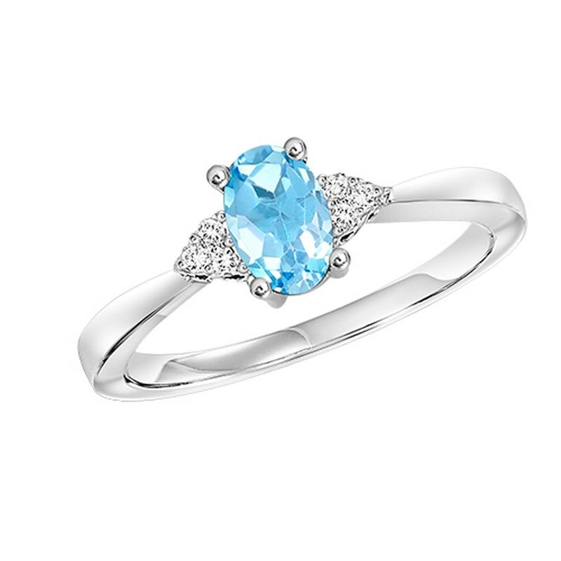 10kw color ens prong blue topaz ring 1/25ct, er10151-4wb