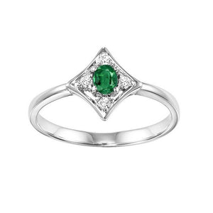 14kw color ens prong emerald ring 1/20ct, rg10636-4wb