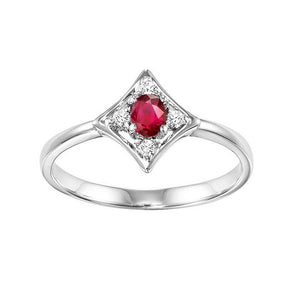 14kw color ens prong ruby ring  1/20ct, rg10642-4wb