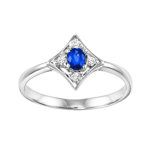 14kw color ens prong sapphire ring 1/20ct, rg10646-4wb