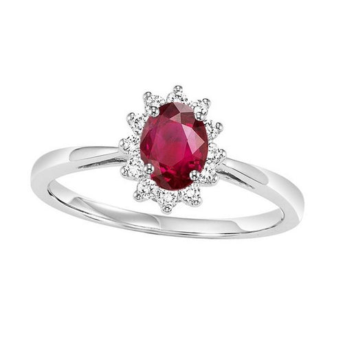 14kw color ens halo prong ruby ring 1/5ct, rg73312-1pd