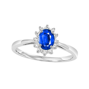14kw color ens halo prong sapphire ring 1/5ct, rg73311-1wd