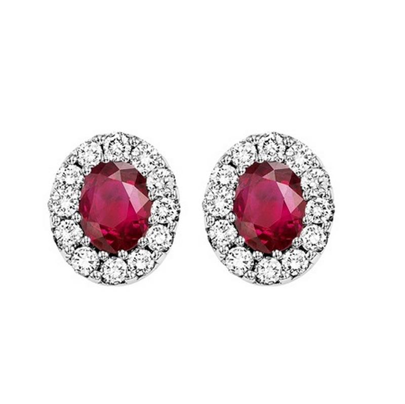 14kw color ens halo prong ruby earrings 1/5ct, rg70702-4wc